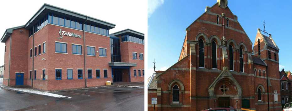 Teleware Offices and St Robert's Roman Catholic Church in Harrogate